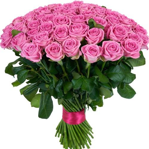 Купить на заказ Букет из 101 розовой розы с доставкой в Алматы