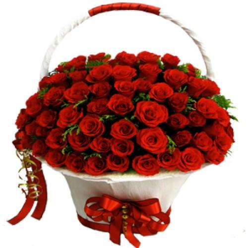 Купить на заказ Заказать Корзина с цветами 8 с доставкой по Алматы с доставкой в Алматы