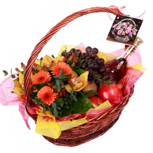 Купить на заказ Заказать Корзина с фруктами 9 с доставкой по Алматы с доставкой в Алматы
