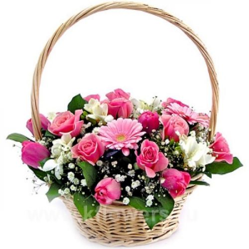 Купить на заказ Заказать Корзина с цветами 6 с доставкой по Алматы с доставкой в Алматы