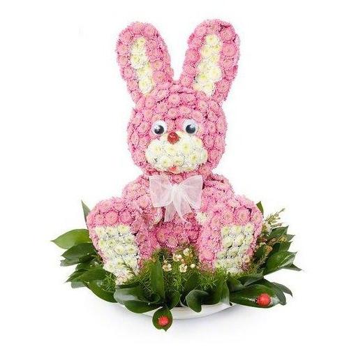 Купить на заказ Заказать Розовый зайчик с доставкой по Алматы с доставкой в Алматы