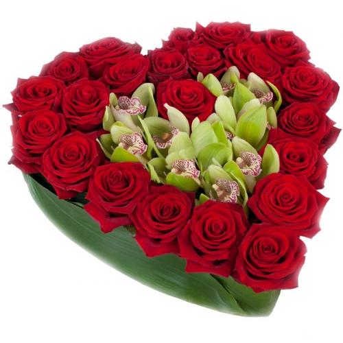 Купить на заказ Заказать Сердце 10 с доставкой по Алматы с доставкой в Алматы