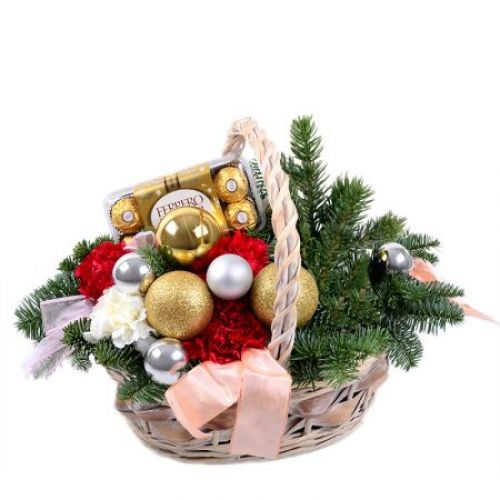 Купить на заказ Заказать Корзинка «Новогоднее настроение» с доставкой по Алматы с доставкой в Алматы