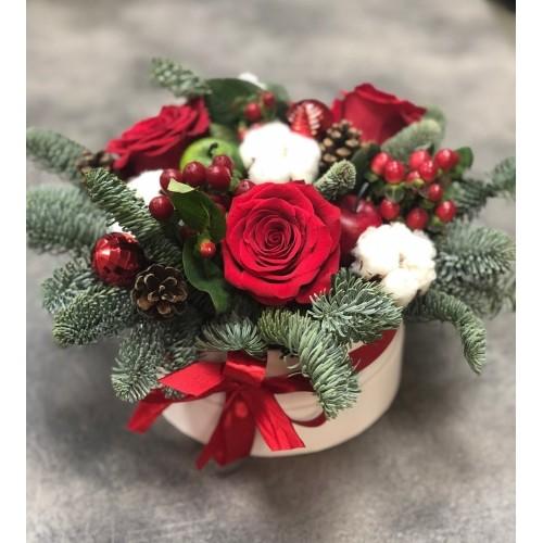 Купить на заказ Заказать Букет «Веселый Санта» с доставкой по Алматы с доставкой в Алматы