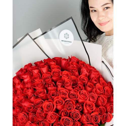 Купить на заказ Заказать Букет из 101 красной розы с доставкой по Алматы с доставкой в Алматы