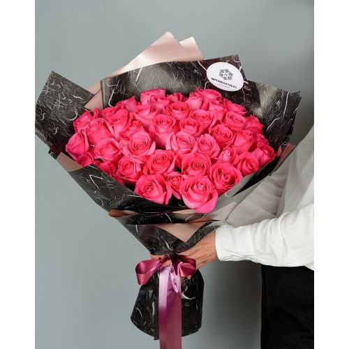 Купить на заказ Заказать Букет из 51 розовых роз с доставкой по Алматы с доставкой в Алматы