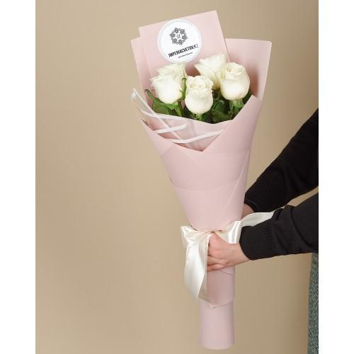 Купить на заказ Заказать Букет из 5 роз с доставкой по Алматы с доставкой в Алматы
