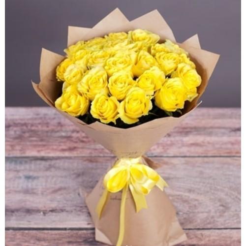 Купить на заказ Букет из желтых роз с доставкой в Алматы