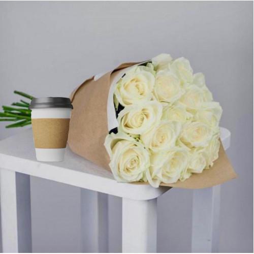 Купить на заказ Кофе с цветами с доставкой в Алматы