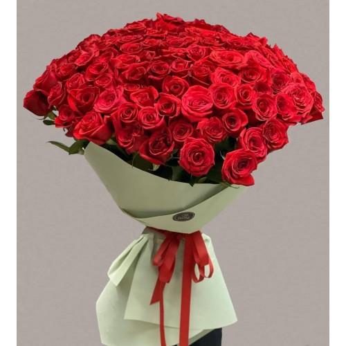 Купить на заказ Заказать 101 метровая роза с доставкой по Алматы с доставкой в Алматы