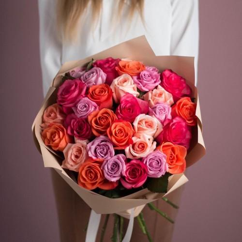 Купить на заказ Заказать Букет из 25 роз (микс) с доставкой по Алматы с доставкой в Алматы