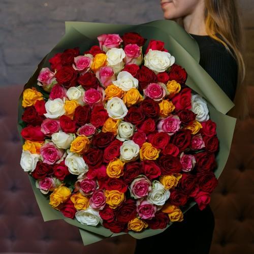 Купить на заказ Заказать Букет из 101 розы (микс) с доставкой по Алматы с доставкой в Алматы